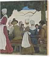 Thanksgiving Banquet Wood Print