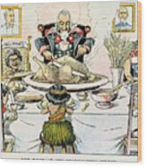 Thanksgiving Cartoon, 1898 Wood Print