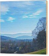 Thanksgiving Land Wood Print