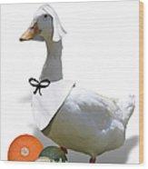 Thanksgiving Pilgrim Duck Wood Print