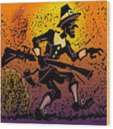 Thanksgiving Pilgrim Wood Print
