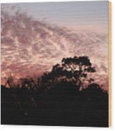 Thanksgiving Sky Wood Print