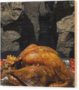 Thanksgiving Turkey For Us Military Servicemen Wood Print