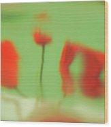 Phantoms Of Red Tulips. Wood Print