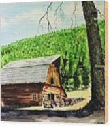 That Barn From That Movie Wood Print