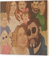 That Crazy Family Wood Print