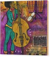 That Sistah On The Bass Wood Print