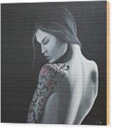 That Tattoo Girl Wood Print