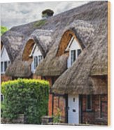 Thatched Cottages In Chawton 2 Wood Print