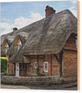 Thatched Cottages In Chawton Wood Print