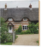 Thatched Cottages Of Hampshire 11 Wood Print