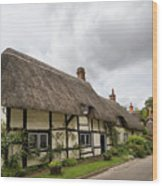 Thatched Cottages Of Hampshire 14 Wood Print