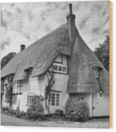 Thatched Cottages Of Hampshire 17 Wood Print