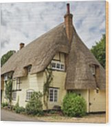 Thatched Cottages Of Hampshire 18 Wood Print