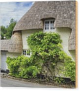 Thatched Cottages Of Hampshire 19 Wood Print