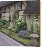 Thatched Cottages Of Hampshire 24 Wood Print