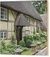 Thatched Cottages Of Hampshire 25 Wood Print