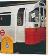 That'll Be The Day - Locomotive - London Underground - Retro Travel Poster - Vintage Poster Wood Print