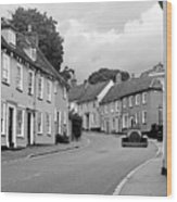 Thaxted Cottages In Black And White Wood Print
