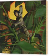 The 1-18 Animal Rescue Team - Cat In Jungle Wood Print