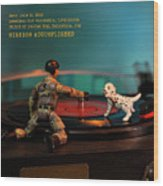 The 1-18 Animal Rescue Team - Dog On Turntable Wood Print