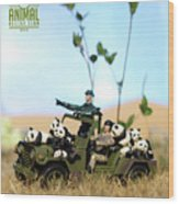 The 1-18 Animal Rescue Team - Pandas On The Savannah Wood Print