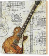The 1955 Les Paul Custom Wood Print