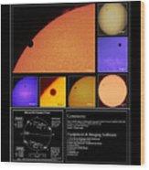 The 2012 Transit Of Venus Wood Print