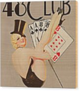 The 48 Club Wood Print by Cinema Photography