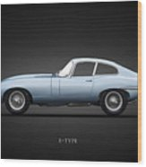 The 65 E-type Coupe Wood Print