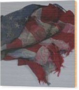 The 9 11 W T C Fallen Heros American Flag Wood Print