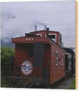 The 909 Caboose Wood Print