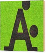 The A With Style Lime - Pa Wood Print