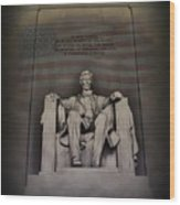 The Abraham Lincoln Memorial Wood Print