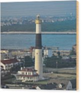 The Absecon Lighthouse In Atlantic City New Jersey Wood Print