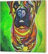 The Abstract Mastiff Wood Print