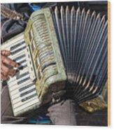 The Accordionist Wood Print