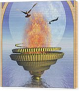 The Ace Of Cups Wood Print by John Edwards