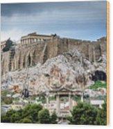 The Acropolis - Athens Greece Wood Print