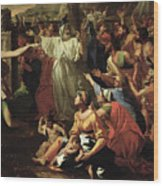The Adoration Of The Golden Calf Wood Print
