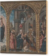 The Adoration Of The Kings Wood Print