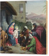 The Adoration Of The Magi Wood Print by Jean Pierre Granger