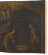 The Adoration Of The Shepherds Wood Print