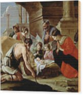 The Adoration Of The Shepherds Wood Print by Louis Le Nain