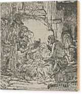 The Adoration Of The Shepherds: With The Lamp Wood Print