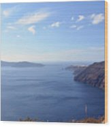 The Aegean Sea In The Volcanic Are Of Santorini, Greece Wood Print