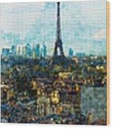 The Aesthetic Beauty Of Paris Tranquil Landscape Wood Print