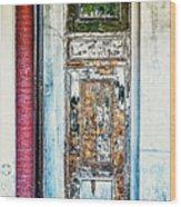 The Aged Door Wood Print
