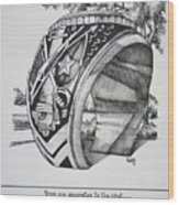 The Aggie Ring Wood Print