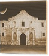 The Alamo Greeting Card Wood Print